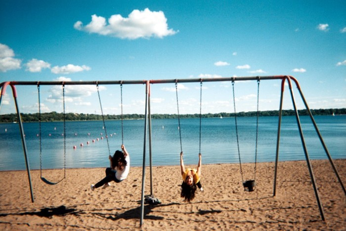 1. Minnesotan's all love a good set of swings, and it sure doesn't hurt when it's lakeside like this one at Lake Calhoun!