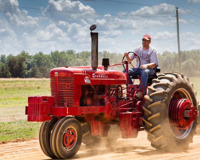 5. Okay, it may not be uncommon to see a tractor driving on the road but that doesn't mean we don't own cars. Even though some may find it hard to believe, tractors are not a normal means of transportation.