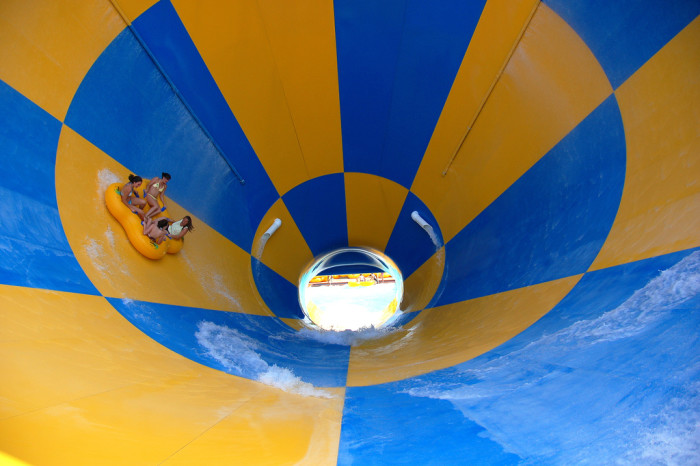 3. Enjoy an action ride or lazy river at a water park.