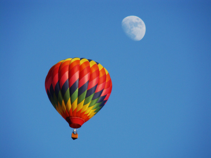 10.) Floating high above the world..