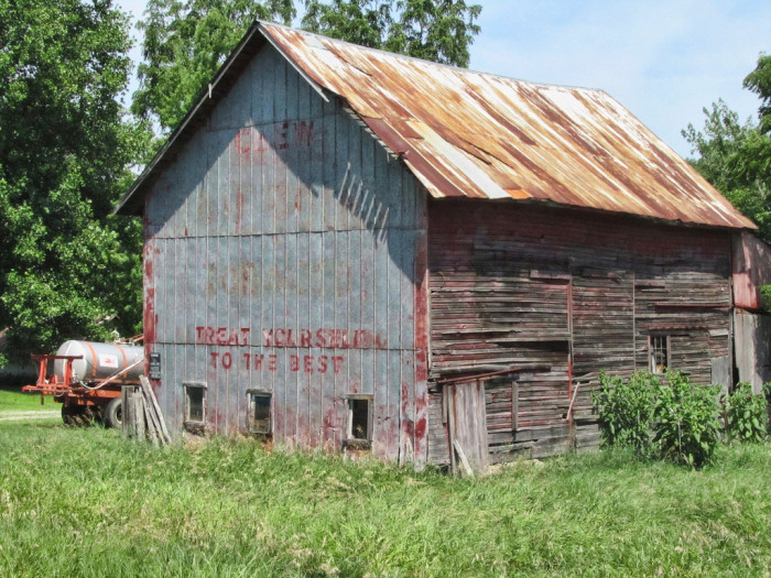 4. You can see this old Ramshackle barn near Bristol, Indiana.