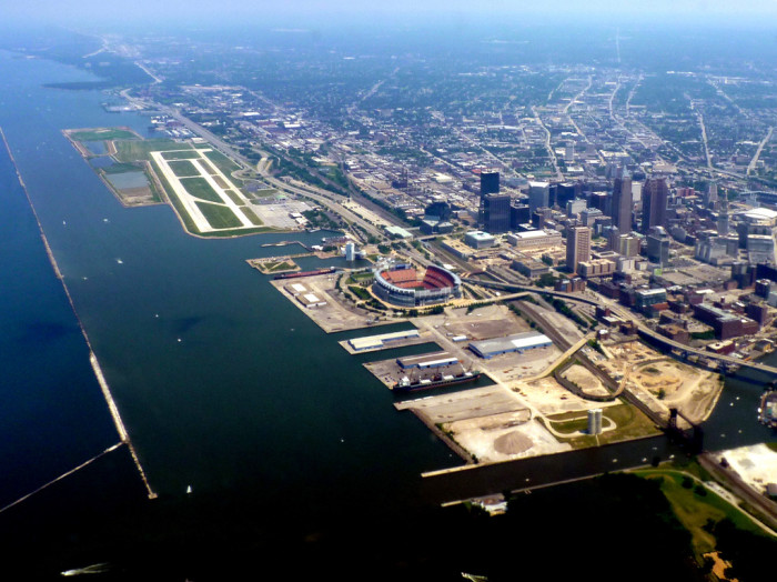 3) Cleveland water front
