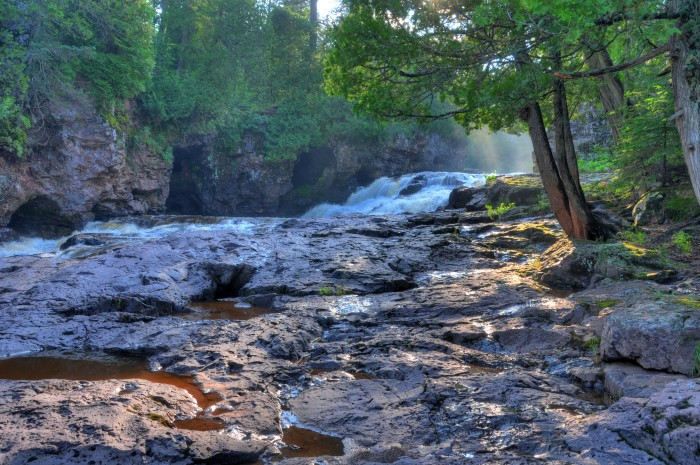 6. Fifth Falls at Gooseberry Falls State Park is probably the least crowded of the falls at this gorgeous park and it's worth the short trek for the peace and quiet.