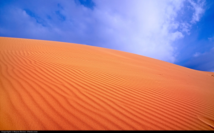 2. An unending desert.