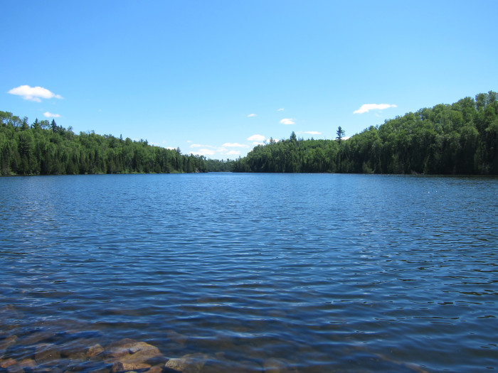 1. Little Caribou Lake is not only crystal clear but right next to its bigger and even clearer brother, Caribou Lake in the BWCA.