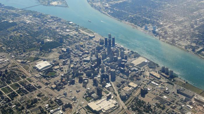 11) Downtown Detroit