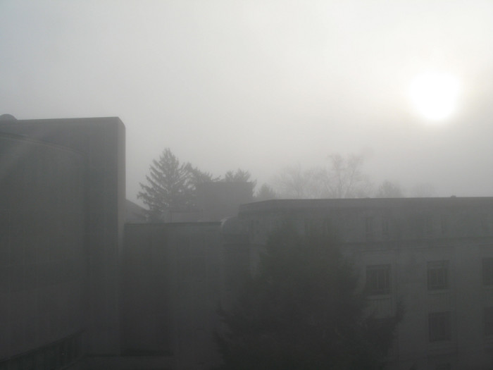 6. I wouldn't want to walk around this campus in that kind of fog…