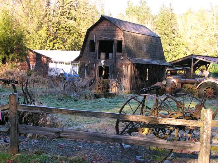 4. An aged building captured near Van Zandt, WA.