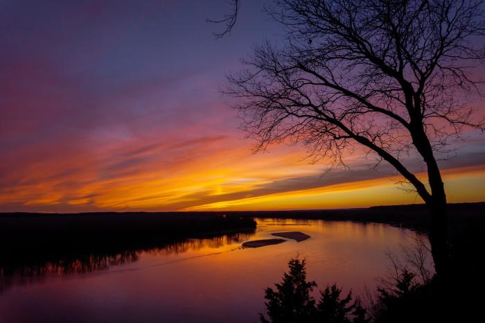 6. Missouri River near Rocheport.  Amazing colors!