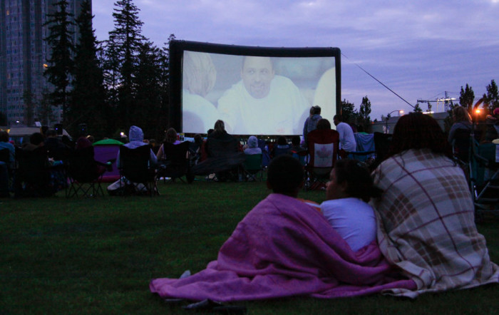 12) Catch a free outdoor movie