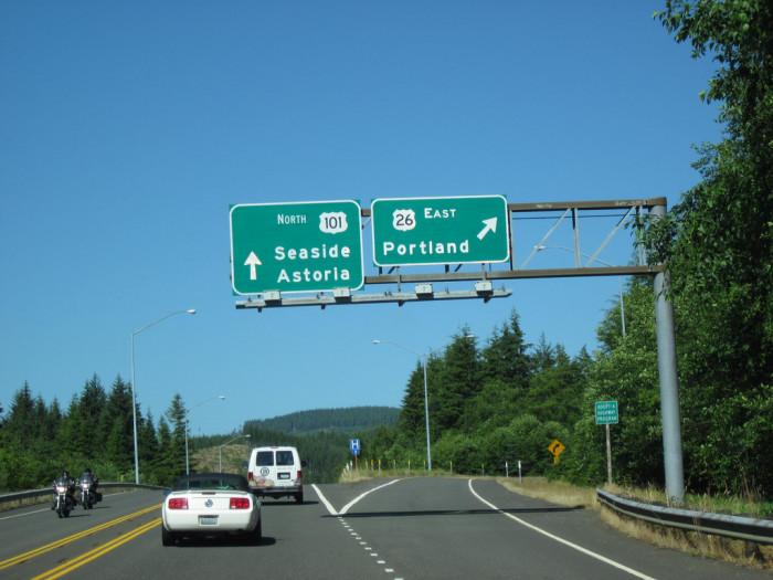 1) Highway 101, near Cannon Beach