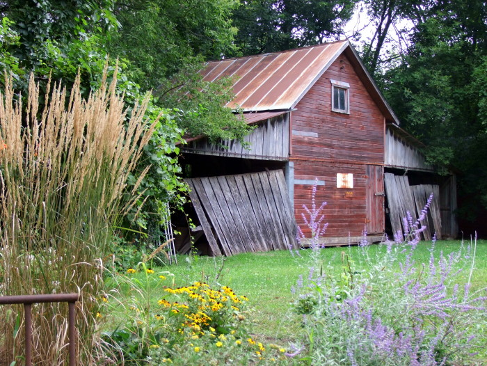 9. This old homestead is fantastically gorgeous despite the building's rough edges.
