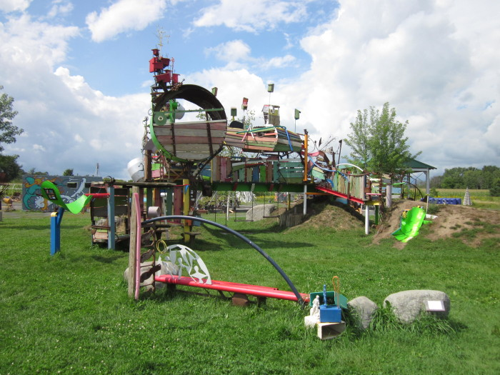 2. The playground at Franconia Sculpture Park is not only artwork but it's super fun as well!
