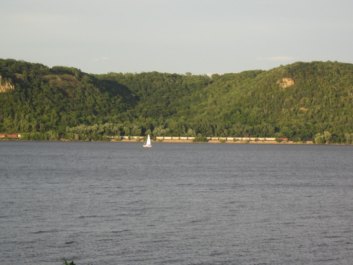 10. Lake Pepin on the Mississippi offers some of the most spectacular beauty on the Minnesota, Wisconsin border.