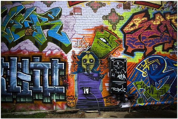 1. Graffiti wall in Braddock, PA.