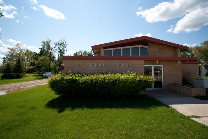 4. St. Gertrude's Church in Saint Gertrude, North Dakota.