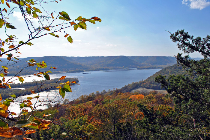 11. The views from Wisconsin's Brady''s Bluff show the equally impressive bluffs across the river in Minnesota.