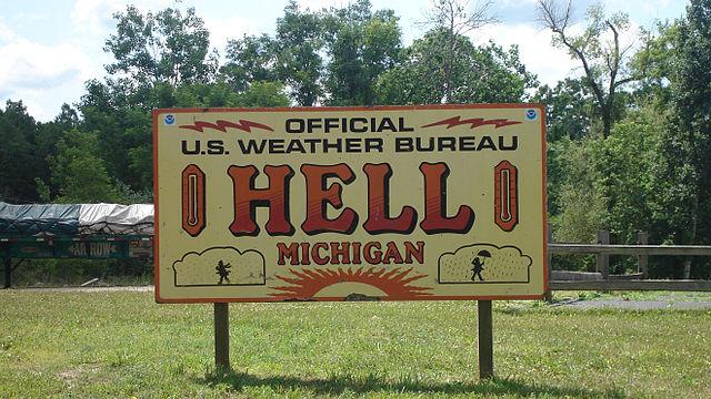 2) Hell, Michigan