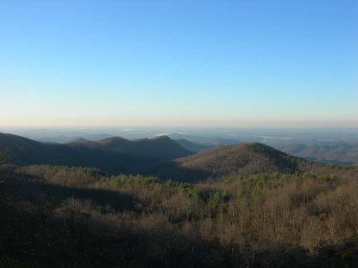 8. A view of the majestic mountains from Sassafras Mountain.