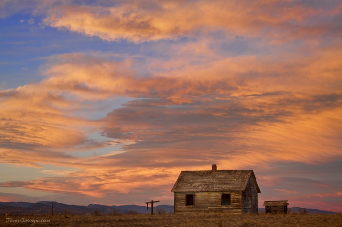 4.) Watercolor sunset over North Boulder County