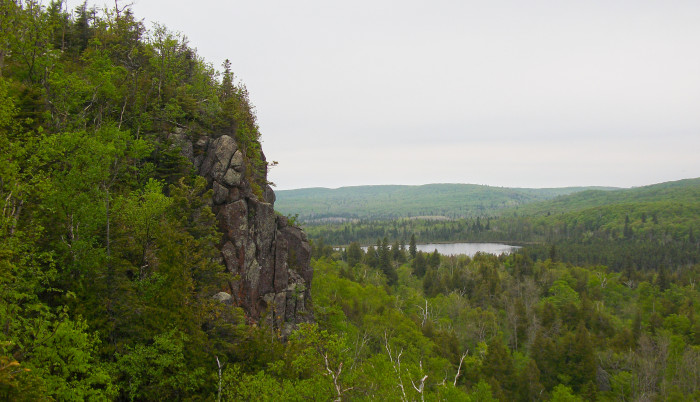 16. Along the North Shore, you can find many spectacular cliffs for elevated views.