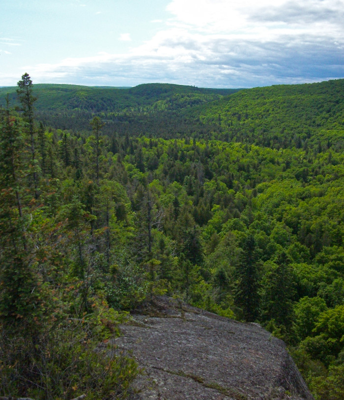 9. Moose Mountain offers breathtaking scenery in the warm months...
