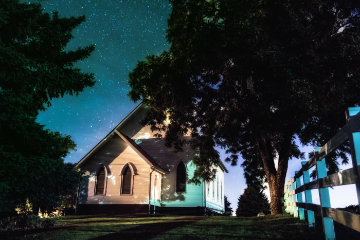 6. This small country church somewhere in western Iowa