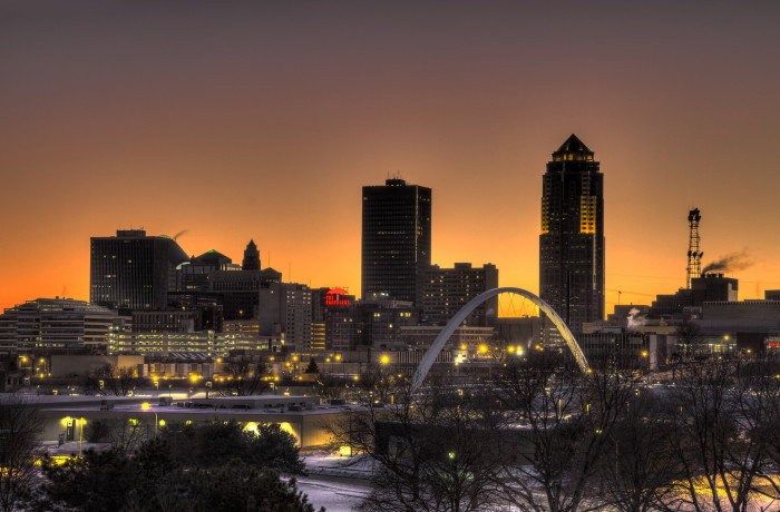 6. This photo of Des Moines is so flawless, it's hard to believe it's real.