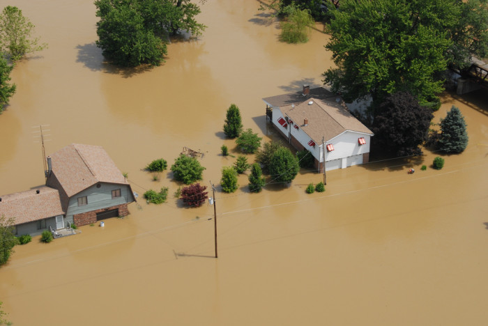 7. This is an aerial view of flood damage to Southern Indiana in 2008. Indiana is no stranger to high waters.