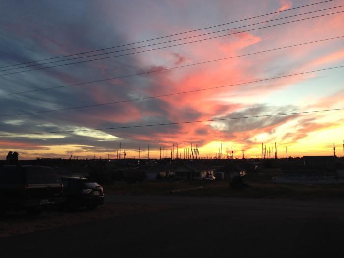 7. Gorgeous evening sky in Joplin
