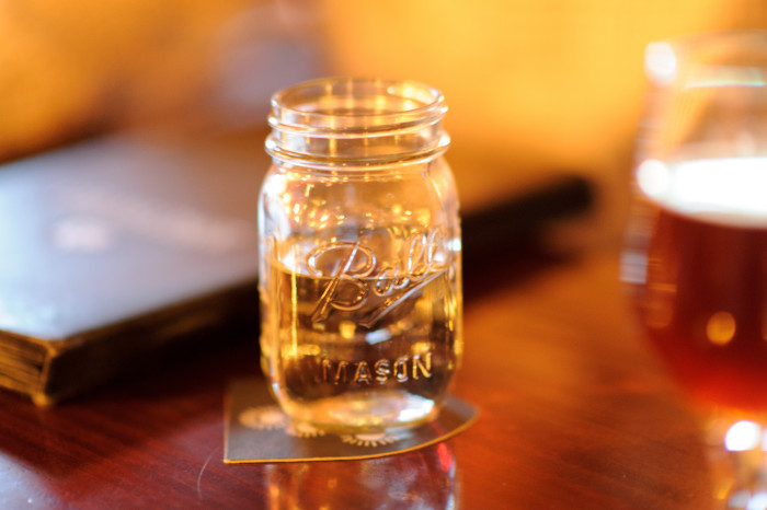 14. Mason jars because they make great drinking glasses.