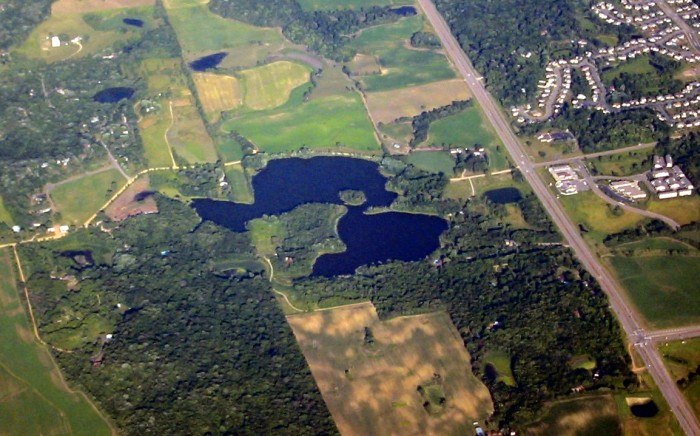 8. Pike Lake from above is phenomenal.