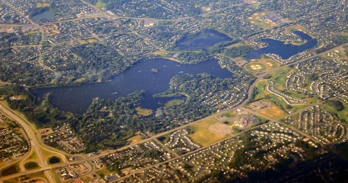 7. Crystal Lake is beautiful from the friendly skies.
