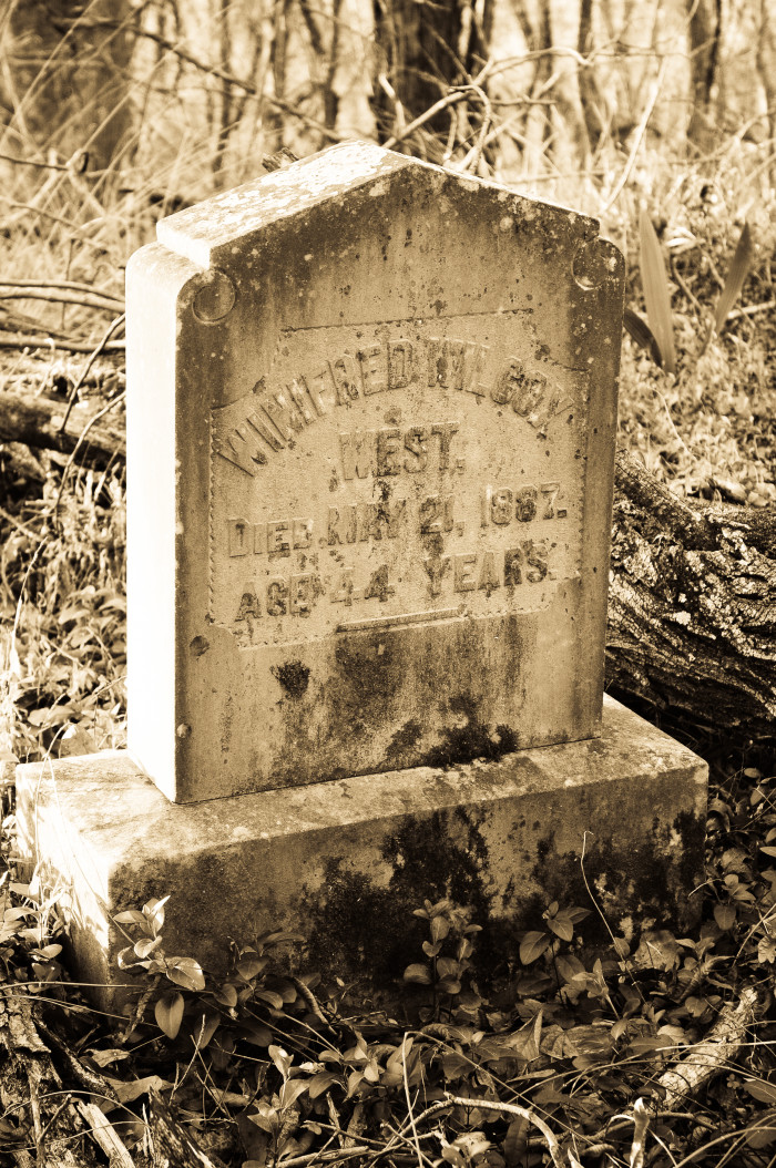 7. A grave in the woods? Does it get any creepier?!