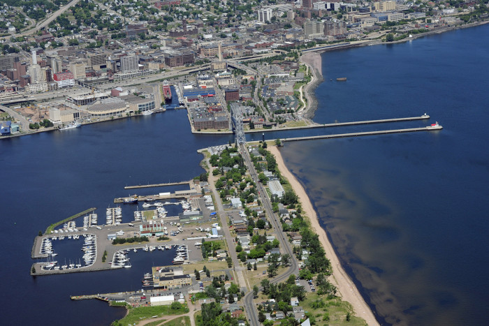 3. This aerial view of the Duluth-Superior Harbor is spectacular.