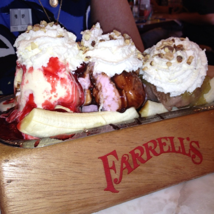 6) Going to the mall and getting a sundae (and maybe a cavity) from Farrell's Ice Cream Parlor.