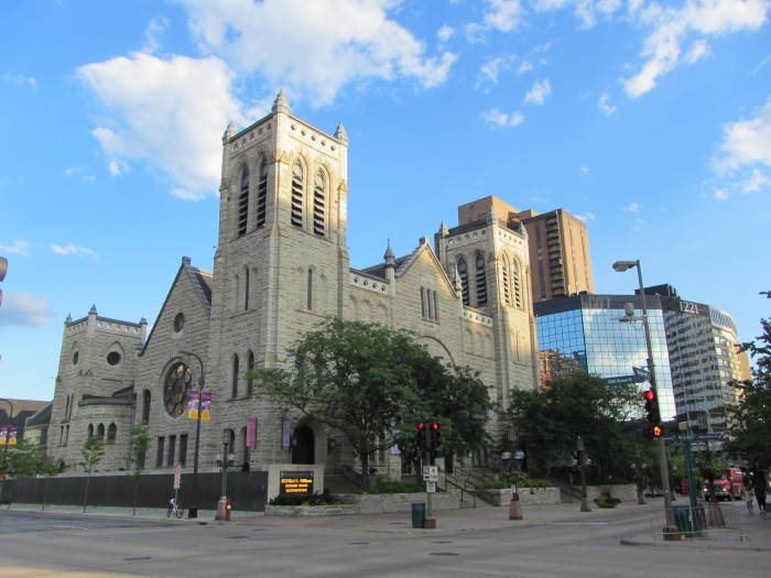 10. Historic Westminster Presbyterian Church in Minneapolis is a wonder among modern downtown.