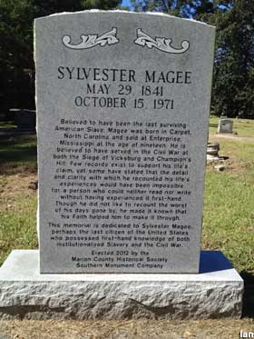 7. Visit the grave of Sylvester MaGee, the oldest man and last living slave, at Pleasant Valley United Methodist Church in Foxworth.