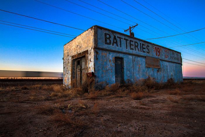18. A look at an abandoned building along the old Route 66 in Holbrook.