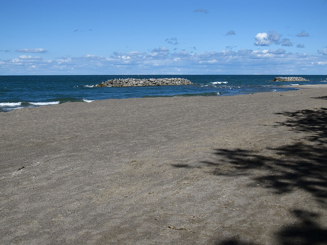3. Relax on the beach at Presque Isle Park in Erie.