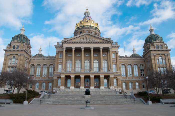 7. The Iowa State Capitol in Des Moines