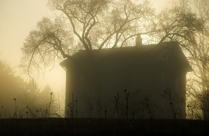 7. This home in Mount Vernon looks eerie but beautiful on a foggy morning