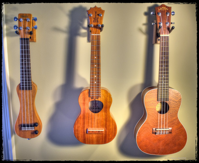 8) Everyone knows how to play the ukulele…