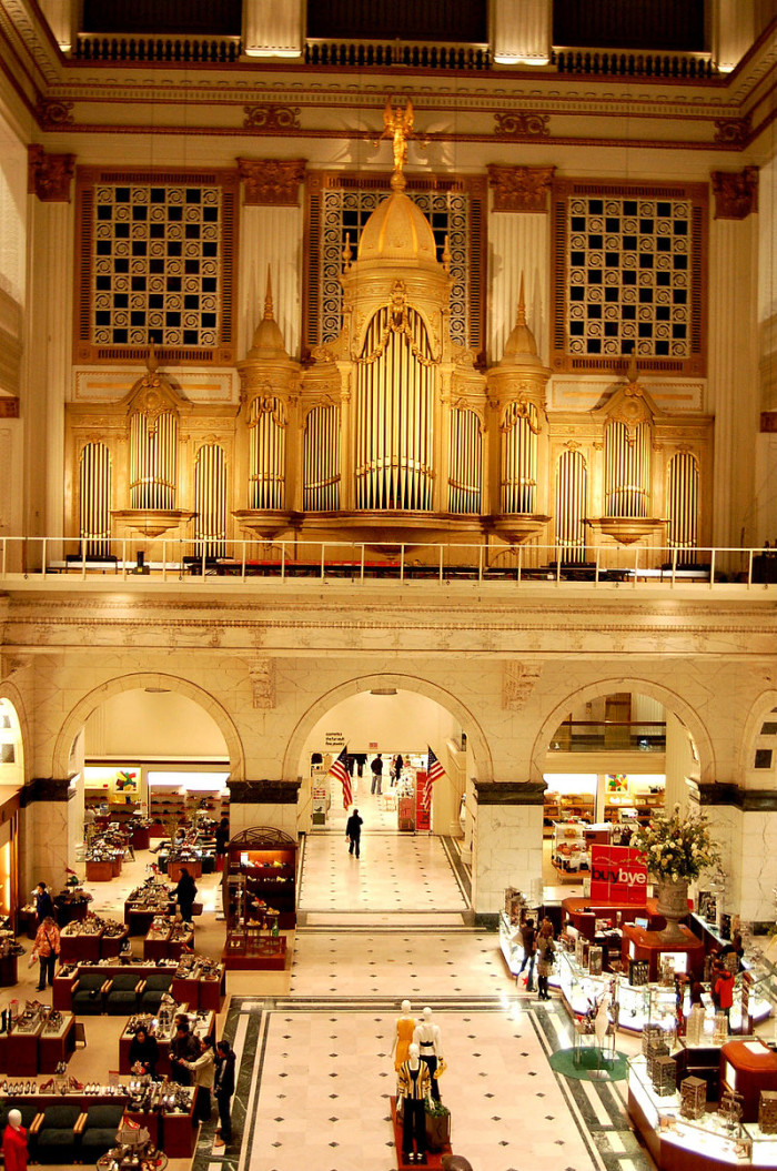 10. Philadelphia is home to Wanamaker's department store, the first in the United States.