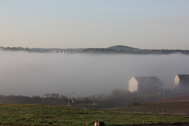 8. See the mist rise slowly out of the valley in Berks County.