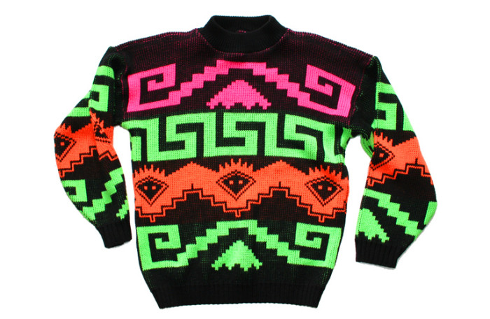 8. Because of The Cosby Show, tacky sweaters were all the rage during the 80s. Throw in some neon and you've got 80s perfection!