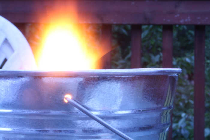 8. A citronella candle so you can actually enjoy the porch swing/rocking chairs.