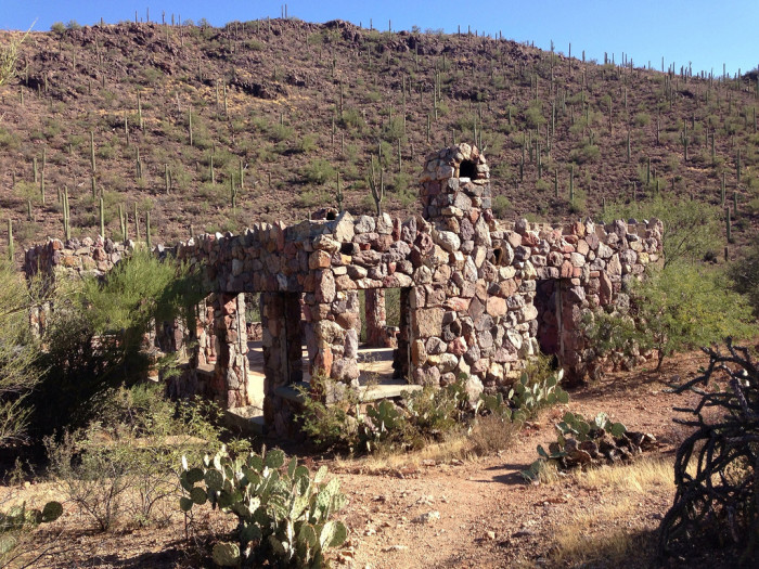 4. This former homestead outside of Tucson still seems a bit sturdy despite its abandonment.