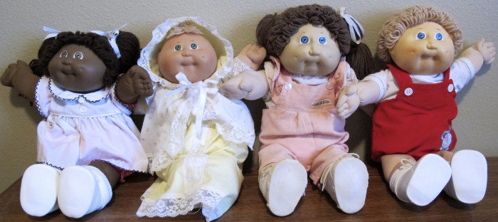 11. Cabbage Patch dolls were a thing. Everyone girl I knew had one. I remember my friend showing me the signature on her doll's rear. I had two as well: Colby Irwin and Hattie Dorrine. (I still have them as well as a Koosa!)
