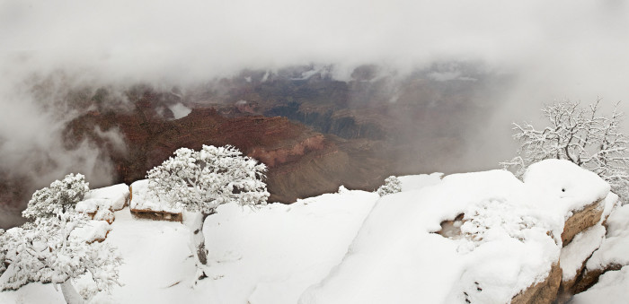 1. Let's start with a chilly view of the Grand Canyon from 2012.
